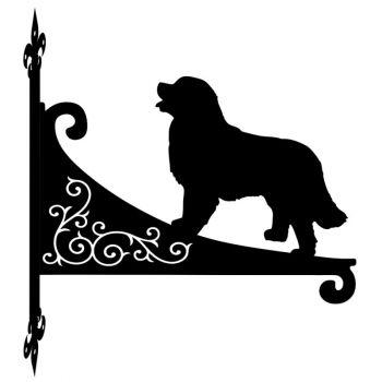 Bernese Mountain Dog Decorative Scroll Hanging Bracket