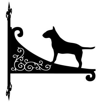 English Bull Terrier Decorative Scroll Hanging Bracket