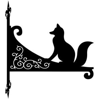 Fox Sitting Decorative Scroll Hanging Bracket