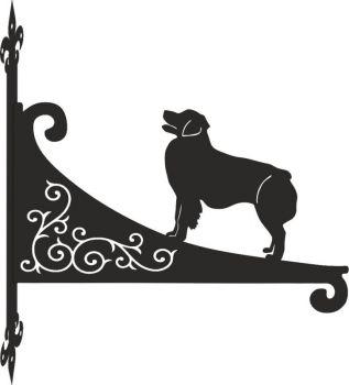 Australian Shepherd Dog Decorative Scroll Hanging Bracket