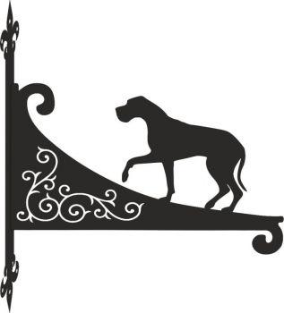 Great Dane Decorative Scroll Hanging Bracket