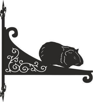 Guinea Pig Decorative Scroll Hanging Bracket