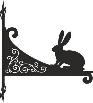 Hare Decorative Scroll Hanging Bracket