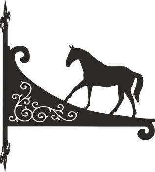 Horse Walking Decorative Scroll Hanging Bracket
