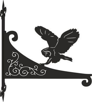 Owl Decorative Scroll Hanging Bracket