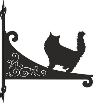 Persian Cat Decorative Scroll Hanging Bracket