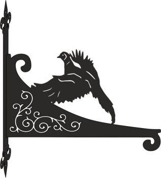 Pheasant Decorative Scroll Hanging Bracket