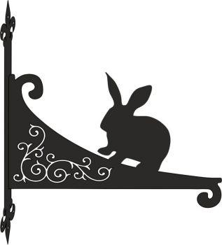 Rabbit Decorative Scroll Hanging Bracket