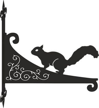 Red Squirell Decorative Scroll Hanging Bracket