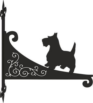 Scotty Dog Decorative Scroll Hanging Bracket