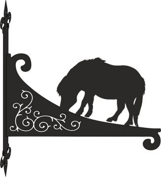 Shetland Pony Decorative Scroll Hanging Bracket