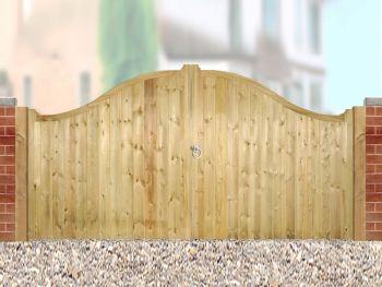 Drayton Low Shaped Driveway Double Gate 300cm Wide x 125cm High