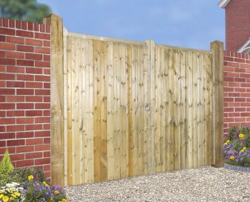 Drayton Tall Square Top Driveway Double Gate 240cm Wide x 180cm High