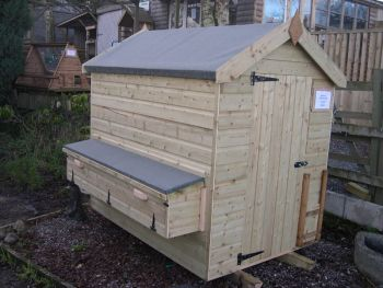 Poultry Shed with Nestboxes, 6' x 4'