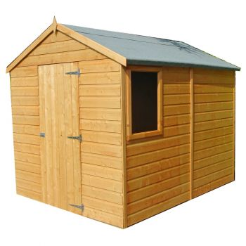 Durham Single Door Tongue and Groove Garden Shed Workshop Approx 8 x 6 Feet