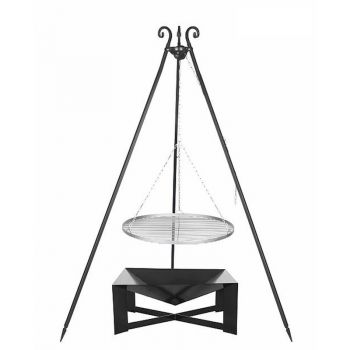 Oskar Barbecue Tripod & Swinging Grill & Fire Bowl Pan 34