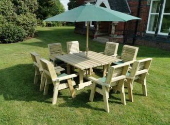 Ergo 8 Seater Square Table Set Including 8 Chairs