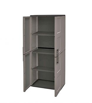 Tall Cabinet Plastic Garden Store Approx 680Lx370Wx1630H