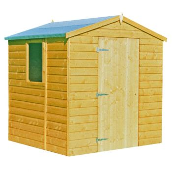 Faroe Single Door Tongue and Groove Garden Shed Workshop Approx 6 x 6 Feet