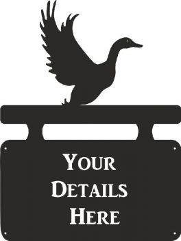 Duck Flying House Plaque - Large