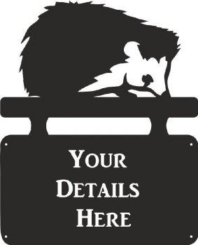 Hedge Hog House Plaque - Regular