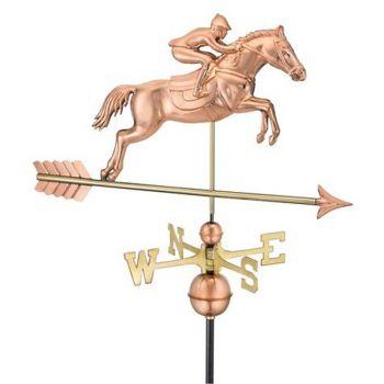 Farmhouse Copper Jumping Horse Weathervane