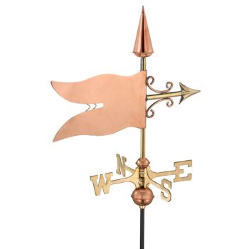 Cottage Banner Copper Weathervane
