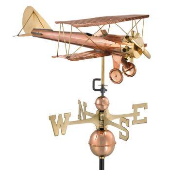 Farmhouse Copper Bi plane Weathervane