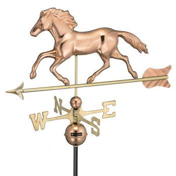 Farmhouse Copper Running Horse Weathervane