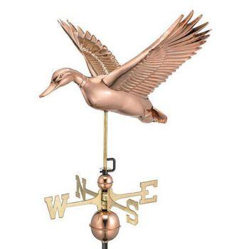 Farmhouse Copper Flying Duck Weathervane
