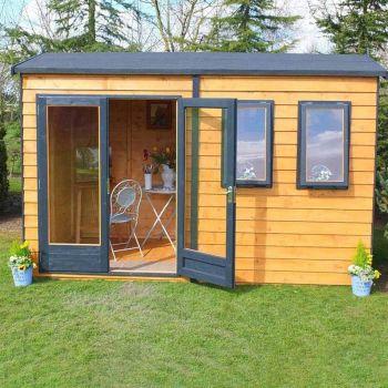 Shire 12' x 12' Double Door with Two Opening Windows Dip Treated Garden Studio Summerhouse