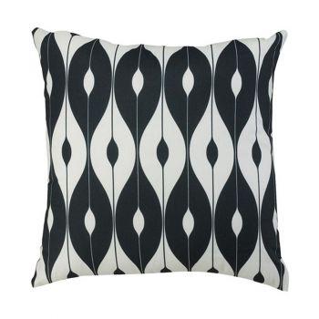 "Scatter Cushion 18\""x18\"" Black pattern"