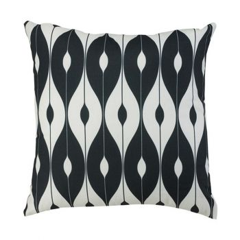 "Scatter Cushion 12""x12\"" Black pattern"