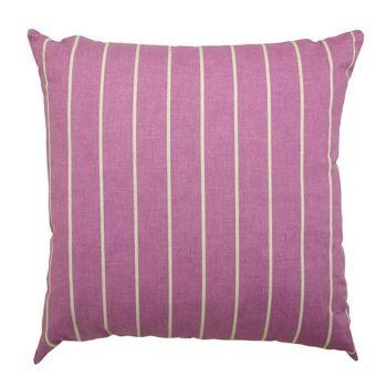 """Scatter cushion 18\""""x18\"""" Purple stripe"""