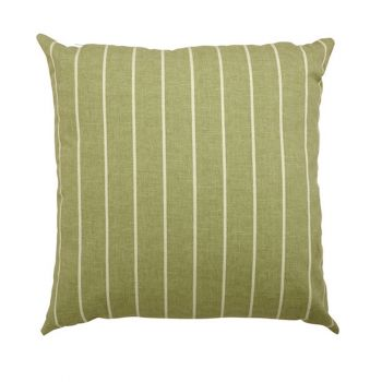 "Scatter cushion 18""x18\"" Green stripe"