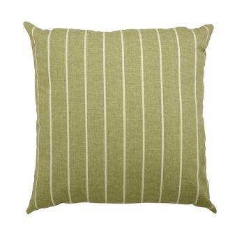"Scatter cushion 18\""x18\"" Green stripe"