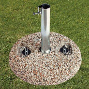 25kg Florida Stone Granite Parasol Base