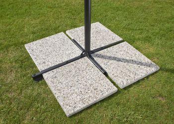 16kg Cantilever Granite Parasol Base Slab 45cm x 45cm
