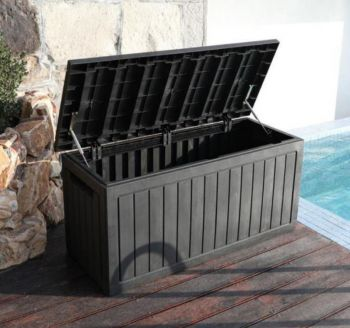 CHARCOAL Rattan Cushion Storage Box