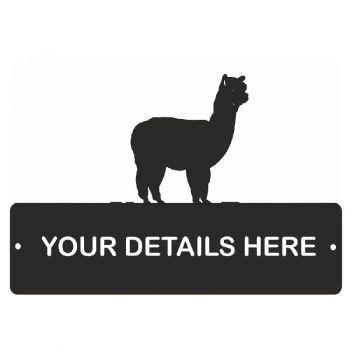 Alpaca Rectangular Gate Plaque