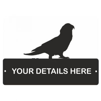 Amazon Parrot Rectangular Gate Plaque