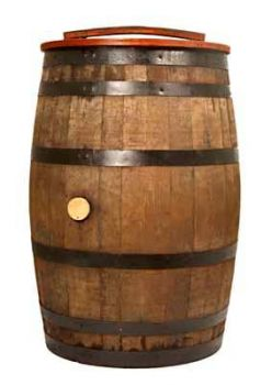 Water Butt- Rain Barrel - Real Oak Barrel with lid & tap-200 Litre-traditional whisky cask from cooperage