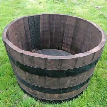 Half Oak Whisky Barrel - perfect as a planter or water feature