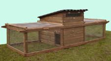 Hintsford Universal Chicken Coop - Poultry house with two runs - For up to 6 Hens