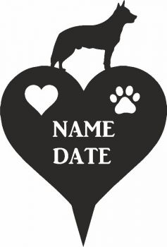 Australian Cattle Dog Heart Memorial Plaque