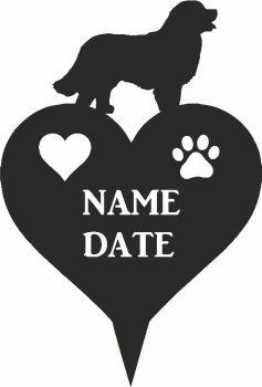 Bernese Mountain Dog Heart Memorial Plaque