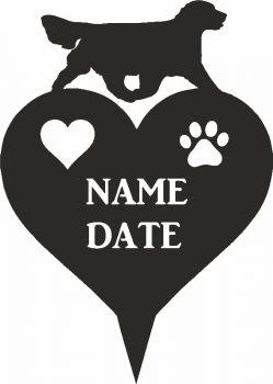 Golden Retriever Heart Memorial Plaque