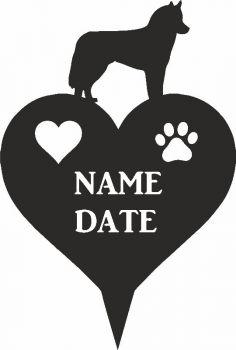 Husky Heart Memorial Plaque