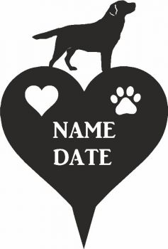 Labrador Heart Memorial Plaque
