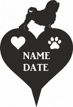 Lowchen Heart Memorial Plaque
